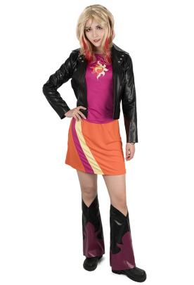 Little Horse Girls Sunset Shimmer Cosplay Costume