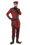 Skyrim The Elder Scrolls Dark Brotherhood Keeper Cicero Cosplay Costume Set