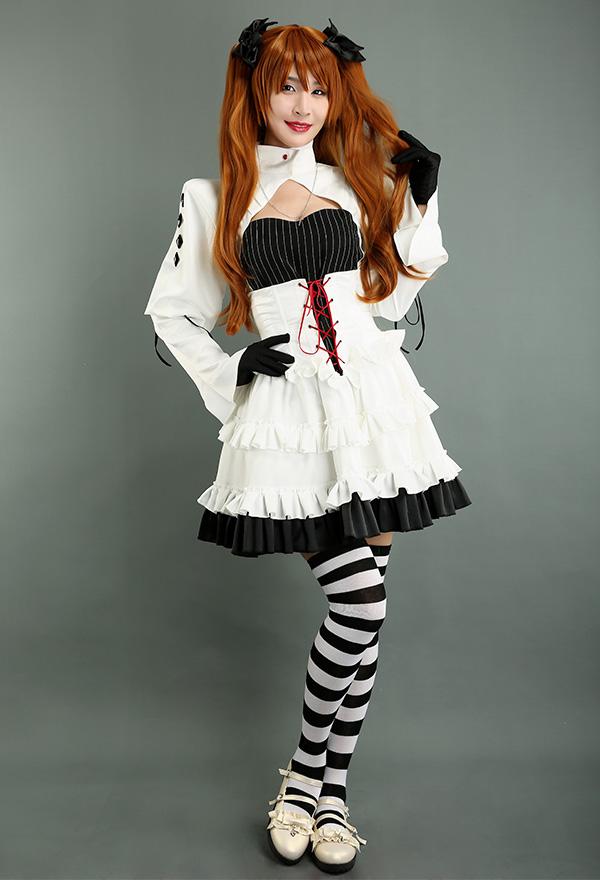 Neon Genesis Evangelion EVA Asuka Langley Sohryu Alter Kalender Gothic Lolita Cosplay Kostüm Kleid