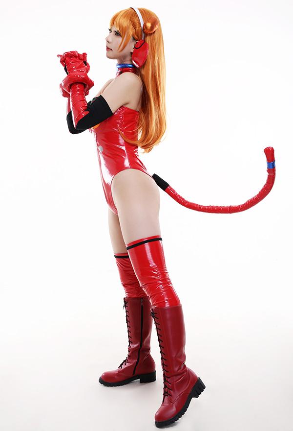 Neon Genesis Evangelion EVA Asuka Langley Soryu Katzenfrau Cosplay Kostüm