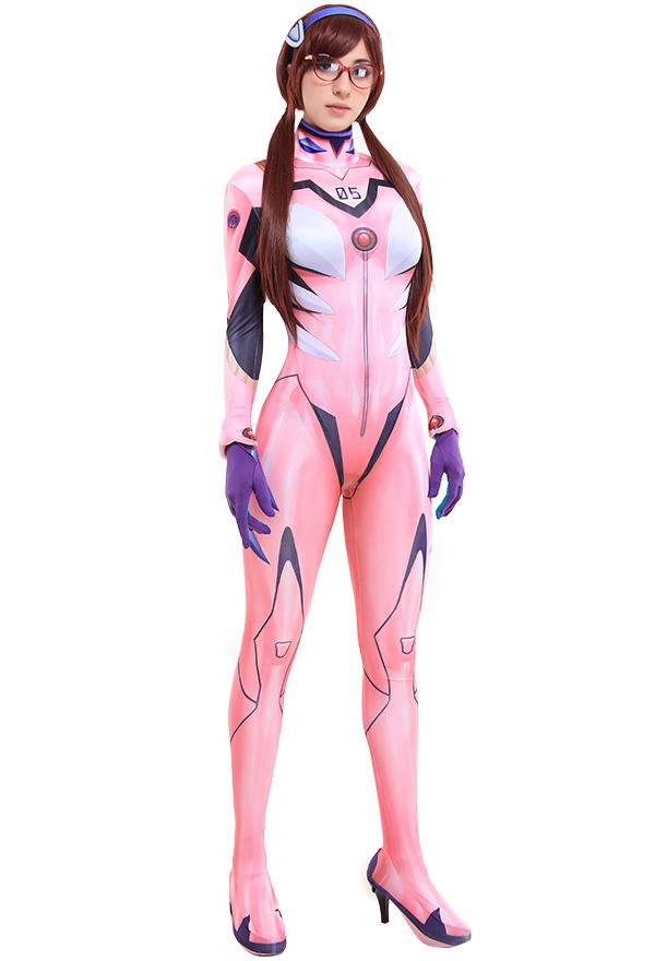 Neon Genesis Evangelion EVA Mari Makinami Illustrious Cosplay Bedruckt Body Jumpsuit Kostüm