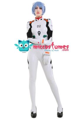 Neon Genesis Evangelion EVA Rei Ayanami Cosplay White Bodysuit Jumpsuit Costume