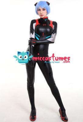 Neon Genesis Evangelion 3.0 EVA Rei Ayanami Cosplay Black Bodysuit Jumpsuit Costume