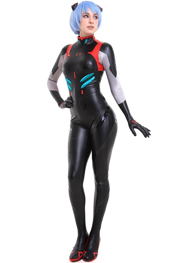 Neon Genesis Evangelion EVA Rei Ayanami Cosplay Schwarz Body Overall Kostüm