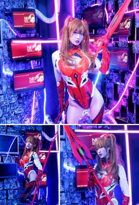 Neon Genesis Evangelion Asuka Langley Soryu Eva Garage Kit Ver Jumpsuit Cosplay Costume