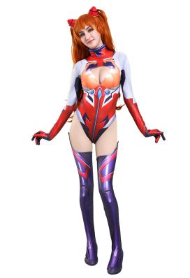 Neon Genesis Evangelion Asuka Langley Soryu Eva Garage Kit Ver 3D Printed Plugsuit Jumpsuit Cosplay Costume