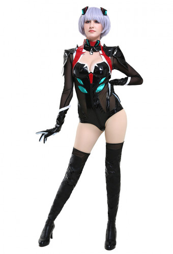 2e6d903cab8 Neon Genesis Evangelion Ayanami Rei Eva Garage Kit Ver Black Battle  Jumpsuit Cosplay Costume