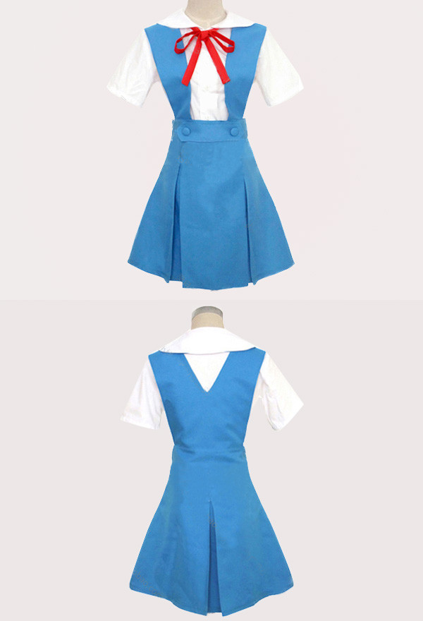 Neon Genesis Evangelion Asuka Langley Soryu Rei Ayanami Cosplay Kostüm Schuluniform