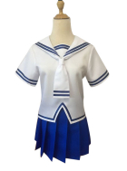 [Free US Economy Shipping] Fruits Basket Tohru Honda Sailor Skirt Suits School Girls Uniform for Summer Cosplay Costume