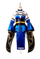Cosmore Fate Extra Caster Tamamo no Mae Fox Girl Mizukume Cosplay Costume with Hair Accessory