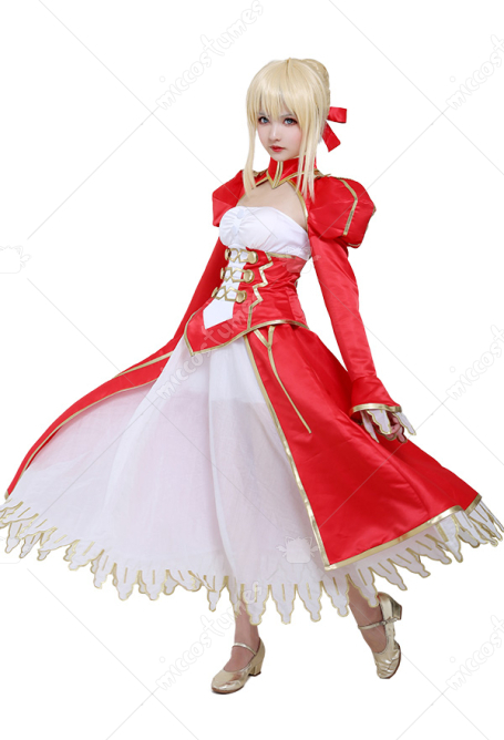 Fate/EXTRA Costume de Cosplay Nero Claudius Robe Rouge
