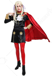 Fire Emblem Three Houses Costume de Cosplay Edelgard Aigles de Jais