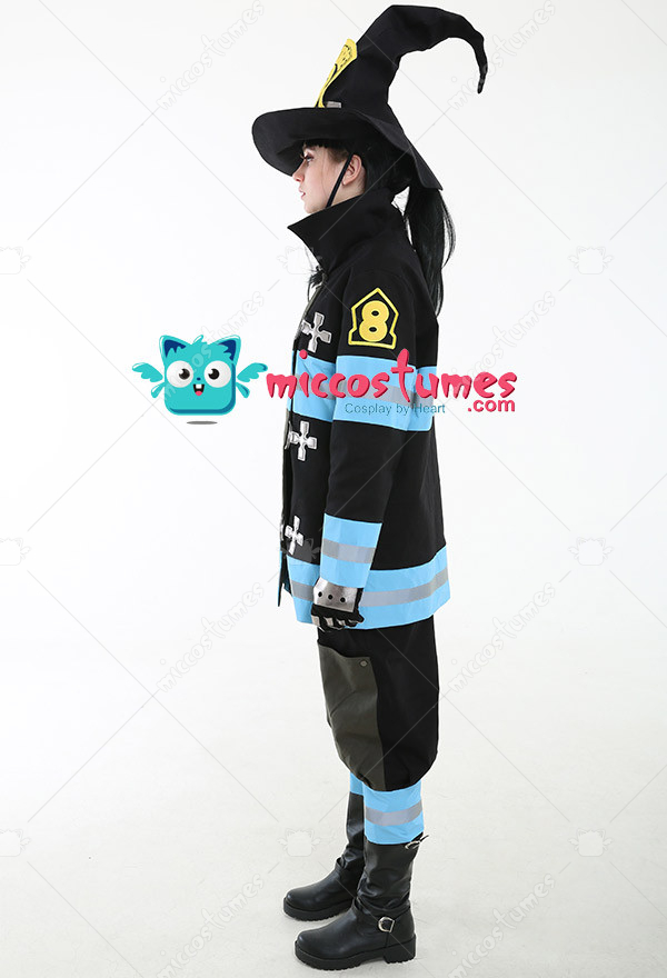 Shinra Kusakabe Costume Fire Force Cosplay Uniform For