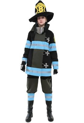 Fire Force Shinra Kusakabe Arthur Boyle Maki Oze Tamaki Kotatsu Fire Soldier Uniform Cosplay Costumes for Women and Men