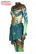 Deluxe Handmade Final Fantasy IV: The After Years Rydia of Mist Rydia Cosplay Costume Cosplay Jumpsuit