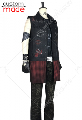 Deluxe Handmade Final Fantasy XV Prompto Argentum Cosplay Costume Including Leather Bracelet