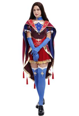 FGO Fate Grand Order Leonardo Da Vinci Shopkeeper Cosplay Full Set Costume with Magic Cloak