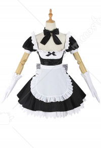 Fate/Grand Order FGO Avenger/Jeanne D'Arc Alter Cosplay Costume Dark Gothic Lolita Maid Dress