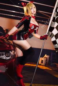 Fate/Grand Order FGO Nero Racing Suit Girl Cool Jumpsuit Red Uniform Cosplay Costume