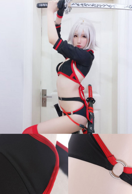 Fate/Grand Order Black Alter Joan Jeanne Badeanzug Bikini Cosplay Kostüm