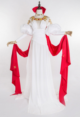 Fate/Grand Order 2nd Anniversary Saber Nero Cosplay Costume Luxury White Dress