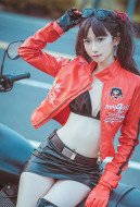 Fate Grand Order Tohsaka Rin Motorcycle Uniform Cosplay Costume Cool Racing Suit