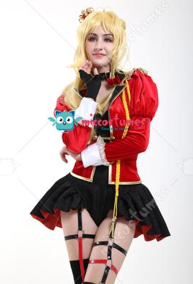 Fate Grand Order Nero Saber Glittering Ceremonial Dress Uniform Cosplay Costume