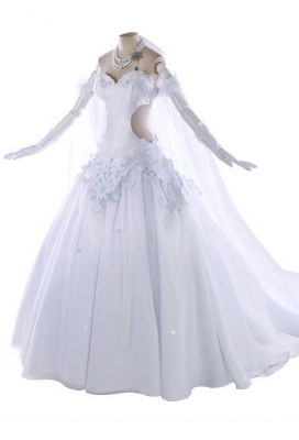 Fate/Grand Order Saber Altria Pendragon White Dress Wedding Dress Cosplay Costume