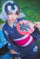 Fate/Grand Order Black Alter Jeanne Kimono Dress Cosplay Costume