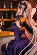 Fate/Grand Order Black Alter Jeanne d'Arc Purple Dress Cosplay Costume