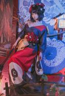 FGO Fate/Grand Order Katsushika Hokusai Stage 2 Kimono Cosplay Costume