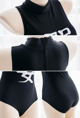 [Free US Economy Shipping] Fate/Grand Order Ruler Jeanne dArc Black One-Piece swimsuit Cosplay Costume