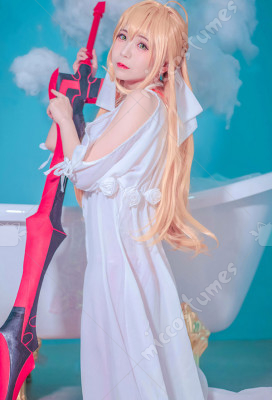 FGO Fate//Grand Order Saber Nero Swimsuit Bikini Cover Maxi Dress Cosplay Costume