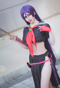 FGO Fate Grand Order Minamoto No Yorimitsu Swimsuit Two Piece Swimwear Cosplay Costume