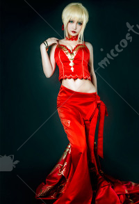 Fate Grand Order Saber Nero Colosseum Cosplay Costume