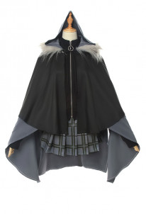 Fate Grand Order The Case Files of Lord El-Melloi II Gray Cosplay Costume With Cloak