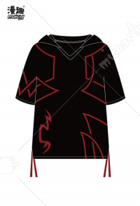 Manchy Fate/Grand Order Gilgamesh Cosplay Short Sleeves Hooded T-shirt