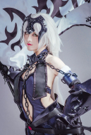 Fate/Grand Order FGO Black Alter Jeanne Avenger Purple Dress Cosplay Costume