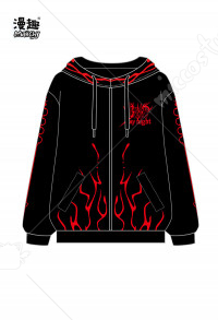 Manchy Fatego Series Black SABER Cosplay Costume Hoodie