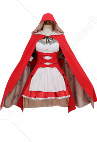 Fate Grand Order FGO Marie Antoinette Fourth Anniversary Formal Dress Christmas Cosplay Costume with Cloak