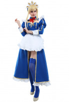 Fate Grand Order Artoria Pendragon Lancer Maid Cosplay Costume Dress with Katyusha