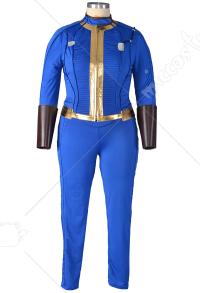Plus Size Fallout 4 Female Sole Survivor Nora Cosplay Costume