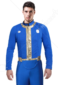 Fallout 4 Male Sole Survivor Nate Cosplay Costume Top Jacket