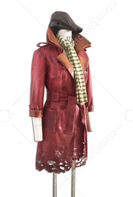 Deluxe Handmade Fallout 4 Piper cosplay Costumes with Hat and Scarf