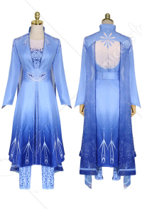 Costume de Cosplay Princesse Elsa Robe Bleue