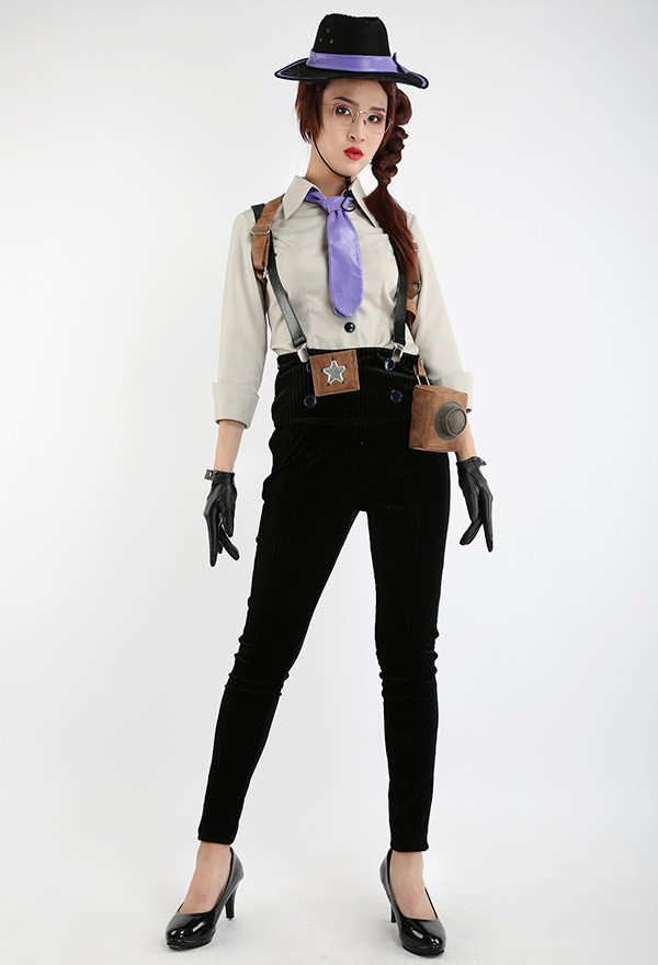 Erwachsene Damen Detektiv Vintage Party Halloween Kostüm