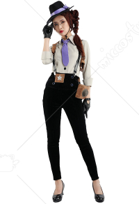 Adult Women Detective Vintage Fancy Halloween Costume For Party