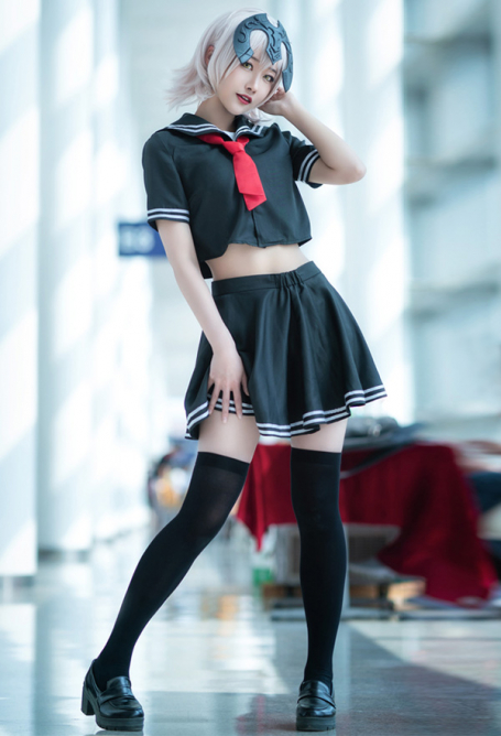 Fate/Grand Order Costume de Cosplay Alter Black Joan Jeanne Uniforme Marin