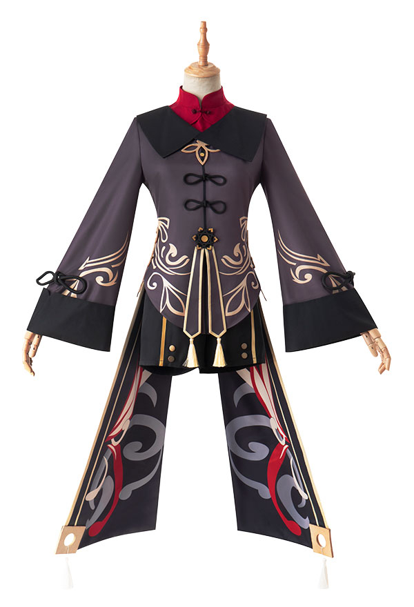 Genshin Impact Hu Tao Cosplay Kostüm Hosen Hut Cosplay Kostüm