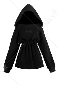 Dark Gothic Witch Hooded A Line Lacing Dress for Girls
